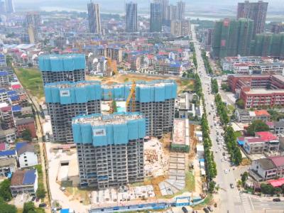 汨罗山湖海·上城2021年6月高空航拍视频